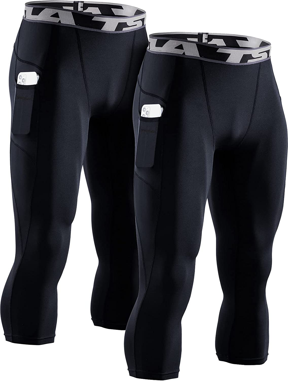 TSLA 1 or 2 Max 85% OFF Pack Men's 3 4 Soldering Pants Running Compression Ti Workout