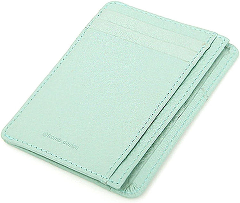 Leather Mini Slim Wallet Women Useful Card Wallets Small Purse Business Card Wallet