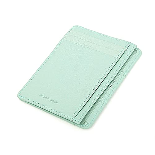 549036f136be Leather Mini Slim Wallet Women Useful Card Wallets Small Purse Business  Card Wallet