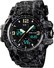 Men`s Watches Sports Outdoor 50M Waterproof Military Wrist Watch Date Multi Function Tactics LED Alarm Stopwatch Analog Di...
