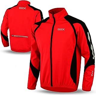 DBX Cycling Jacket Windstopper Winter Thermal Fleece Windproof Long Sleeve Bike Coat Red
