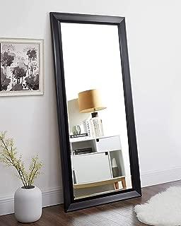 Naomi Home Framed Bevel Leaner Mirror Black/66
