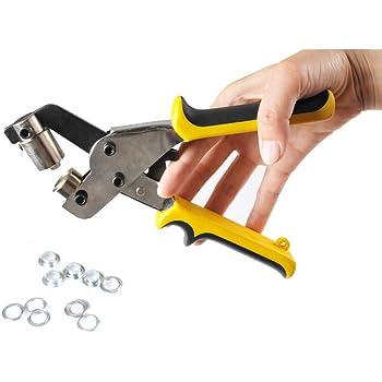 Vinyl Banner 10.5mm Hand Press Grommet Tool Eyelet Hole Puncher for Eyelet #4