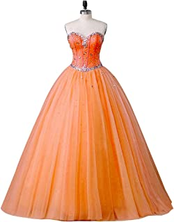 Women's Sweetheart Ball Gown Tulle Quinceanera Dresses Prom Dress