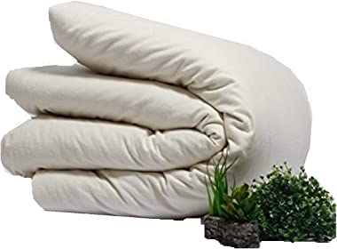 Organics and More Naturesoft Organic Cotton Flannel Duvet Cover, 5 oz. (Full Queen)