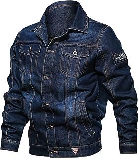 Goorape Men's Rugged Classic Button Denim Jacket Long Sleeves Casual Jean Coats