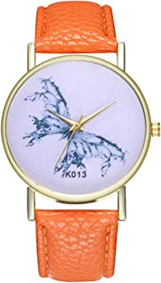 Ladies Wrist Watches on Clearance,Stainless Steel Watches for Women,Women's Watch with Day and Date,Women Watches (Orange)