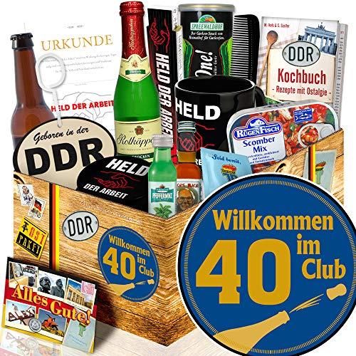 Wilkommen im Club 40 / Geschenke zum 40 Geburtstag / Ostpaket Mann