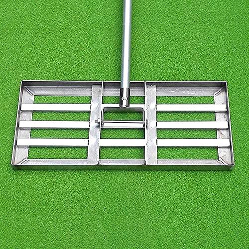 HTDHS Golf Prato Golf Leveler, Livello Suolo o sporcizia Superficie del Terreno Easy Acciaio Inossidabile Strumento di livellamento con Manico, Adatto per Giardino Cortile Golf Prato