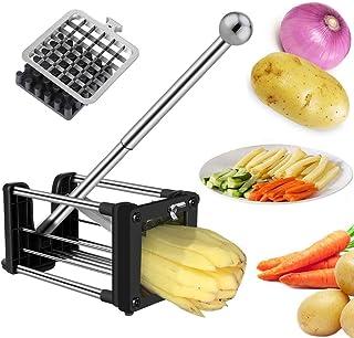 Coupe Frites, Laxus Coupe-frites Lames acier inoxydable et Légumes, Jeu de Deux Lames pour Plus de Choix dans la Taille de...