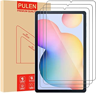 [3 عبوات) PULEN واقي شاشة Samsung Galaxy Tab S6 Lite SM-P610/P615، HD لا فقاعات 9H زجاج مقاوم للخدش (10.4 بوصة)
