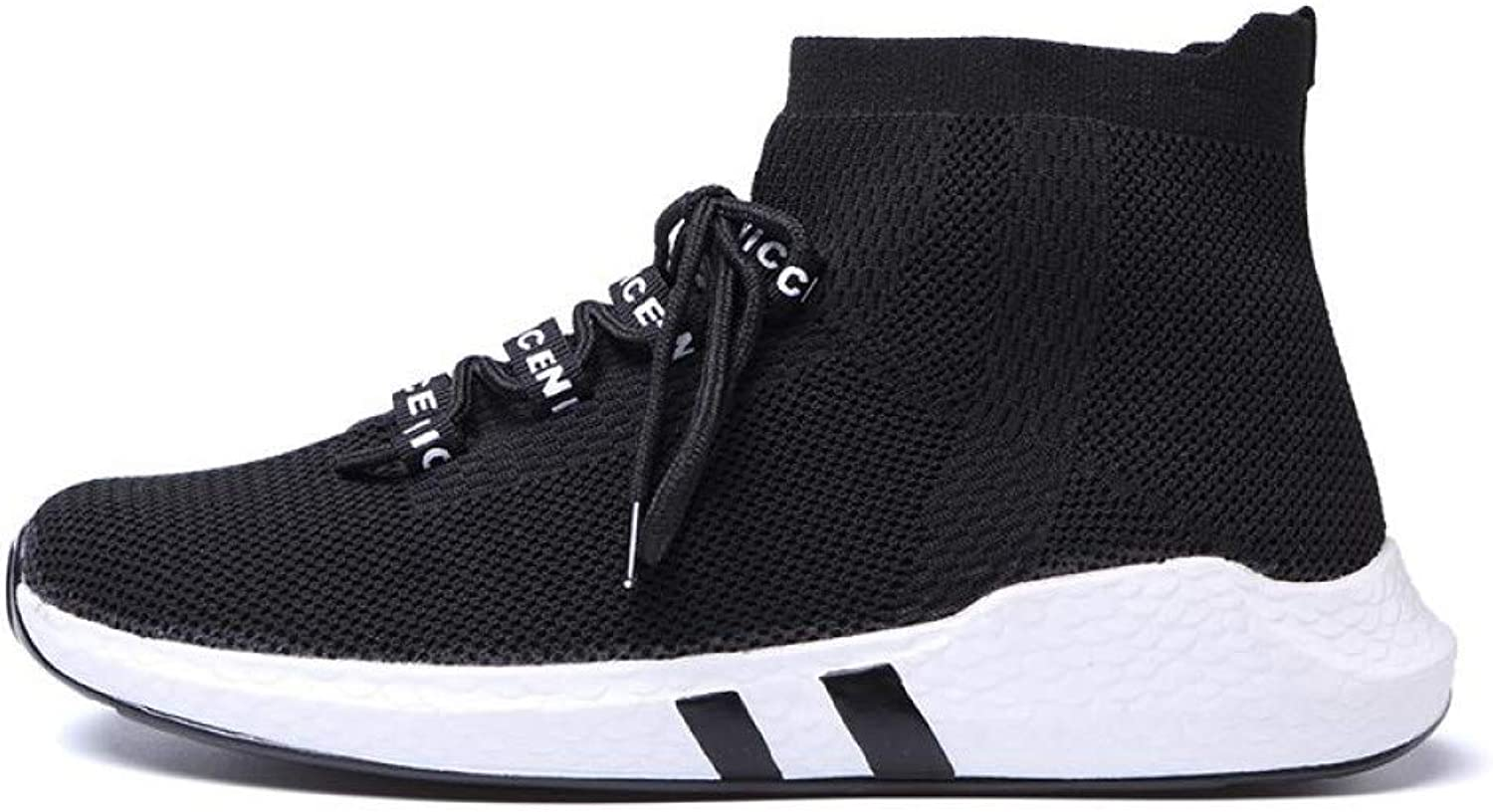 WDDGPZYDX Sports shoes Autumn Men Casual shoes High Top Men Fashion Sneakers Lace Up Sock shoes Ankle Casual shoes Male Outdoor Flats