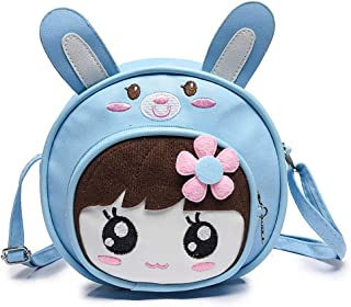 Kids Bags Crossbody Shoulder Bag for Girls, Cartoon Preschool Girls Backpack, Cute Mini Little Girls Purses Bags, PU Leath...