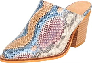 Cambridge Select Women's Pointed Toe Slip-On Chunky Stacked Block Heel Mule