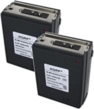 HQRP 2-Pack 1600mAh Battery for Realistic Radio Shack HTX-202 / HTX-404 + HQRP Coaster