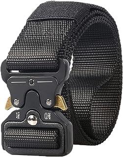 Tactical Belt, Military Style Tactical Belt for Men & Women,Nylon Web Work Belt with Heavy-Duty Quick-Release Metal Buckle