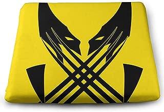 KXJBB Chair Pads- Non Slip Square Chair Cushion Comfort Memory Foam Cool Wolverine Thicken Seat Cushion Pillow