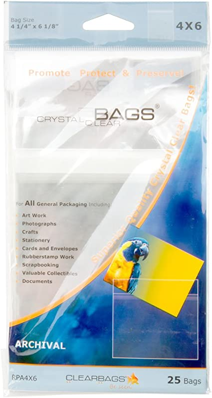 200 Clear Poly Cello Bag 6 1116 x 6 916 inch Self Sealable OPP Product Bag Acid Free Clear Pastic Packaging