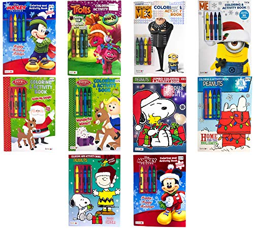 Bendon Kids Children Christmas Edition Nickelodeon Disney Assorted Characters Theme Coloring & Activity Books