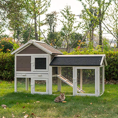 """Kinpaw 53"""" Chicken Coops Large Outdoor Hen House Poultry Cage"""