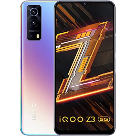iQOO Z3 5G (Cyber Blue, 6GB RAM, 128GB Storage) | India's First SD 768G 5G Processor | 55W FlashCharge | Upto 6 Months No Cost EMI | Extra Rs.2000 Off on Exchange