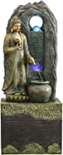 Thai Buddha Statue Southeast Asian Buddha Statue Lucky Flowing Water Fountain Humidifier Decoration Living Room Entrance O...