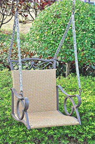 International Caravan Valencia Outdoor Wicker Hanging Patio Swing