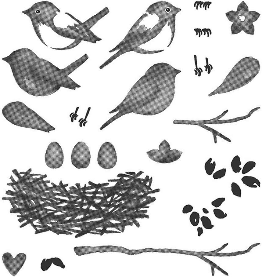 03 Cutting Die+Seal akaddy DIY Seal Magpie Cutting Die Pocket Decoration Kits Cutting Dies for Card Making