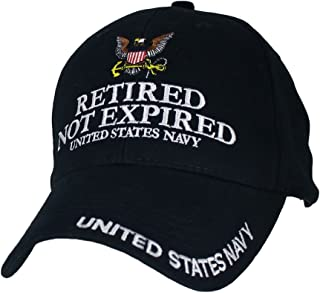 U.S. Navy Retired Not Expired Baseball Cap. Navy Blue