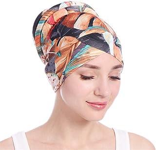 QingFan Newly Fashion Women Islamic Muslim Leaves Hijab Turban Hat Headwrap Scarf Cover Chemo Cap Gift