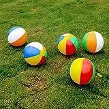 Chic Gadget 6 bolas de playa inflables, bolas de playa, bolas de playa para piscina, fiestas infantiles, juguete para el verano al aire libre y natación – 23 – 30 cm
