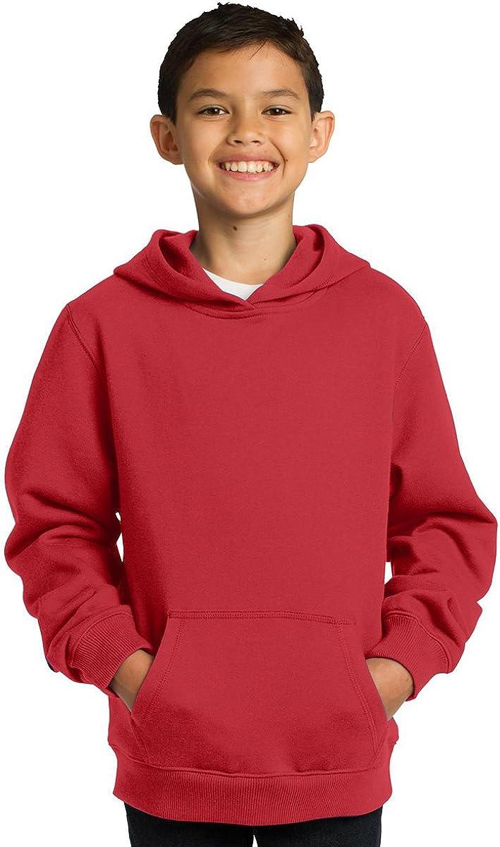 Sport-Tek Youth Comfortable Pullover Hooded Sweatshirt_True Red