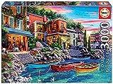 Educa Puesta de Sol en como, Italia. Puzzle de 3000 Piezas. Ref. 19052, Multicolor