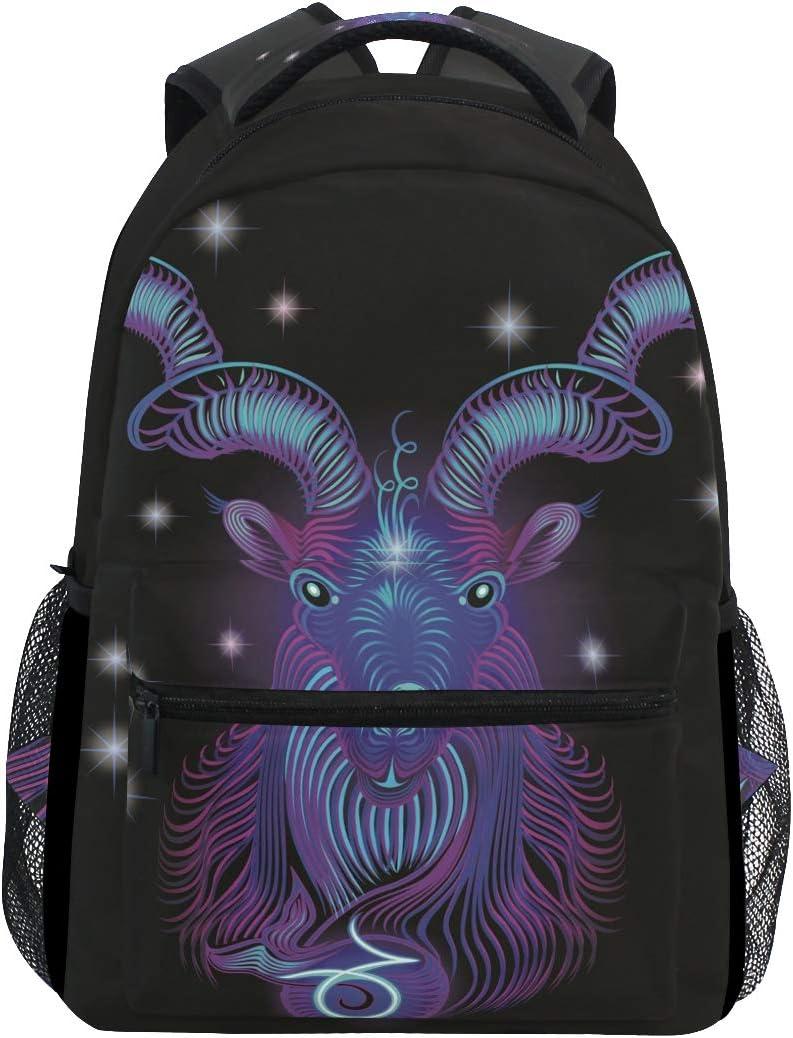 Galaxy Max 69% OFF Aries Zodiac Oakland Mall Backpack School Lapt Bookbag Travel Shoulder