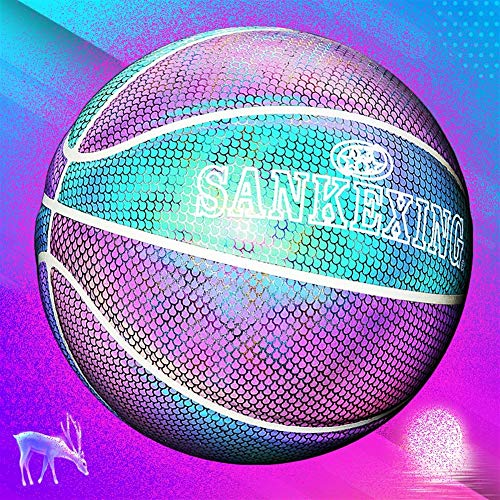 Learn More About YZPXDD Glowing Training Basketball. Smooth/Slip Grip/Slippery Reflective Glowing Ho...