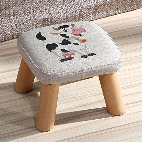 PLL Massief houten schoenen, kruk, salontafel, kruk, stof, mode creatieve kinderen voor volwassenen, kleine stoel