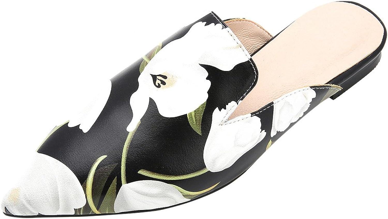 Calaier Womens Cahealth Closed-Toe 1.5CM Block Heel Slip-on Mule shoes