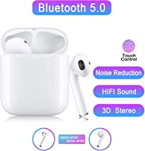 Bluetooth 5.0 Wireless Earbuds Headsets Bluetooth Headphones 【24Hrs Charging Case】 IPX5 Waterproof 3D Stereo Pop-ups Auto Pairing Fast Charging for Airpods/Android/iPhone/Samsung