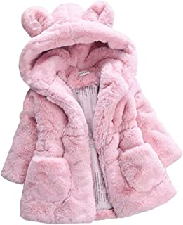 Fairy Baby Baby Girl Winter Fleece Coat Kid Fur Jacket Hood Thick Outwear Warm Snowsuit