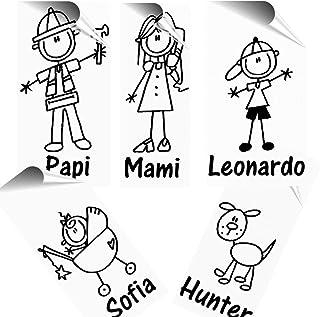 STICKEREDO Adesivo famiglia a bordo personalizzabile, family sticker, adesivo bimbo a bordo. Tutti i nomi