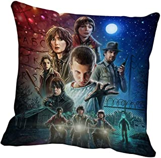 WarmHome Stranger Things Home Decorative Soft Throw Pillowcase Cushion Custom Pillow Case Cover Protecter with Zipper Standard Size 18x18 Inches Two Sides Printed
