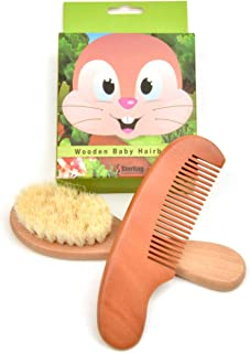 Sterling Consulting Baby Hair Brush & Comb Set for Newborn Babies and Toddlers