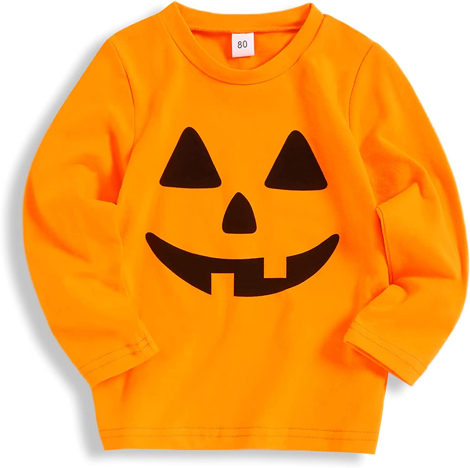 Toddler Baby Boy Skeleton Outfits Before Christmas Halloween Long Sleeve Tees