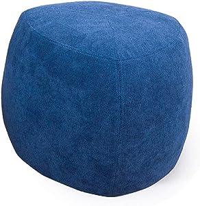 JUDZ Footstools and pouffes Teal Modern Living Room Velvet Flannel - Grey Velvet Decorated Modern Round futon Bedroom and Living Room Furniture