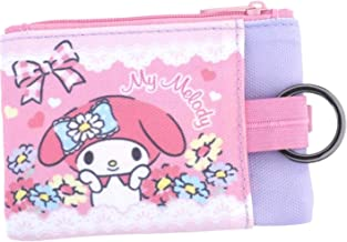 My Melody 2-Zipper Pouch with ID Window Credit Card Case Coin Purse Key Holder Organizer Bag