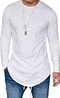 JOKHOO Mens Long Sleeve Hipster Hip Hop Basic Henley T Shirt for Men