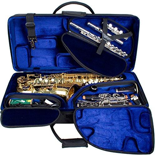 Protec PBTRIALT Tri-PAC Koffer für Altsaxophon, Klarinette und Flöte