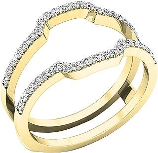 Dazzlingrock Collection Diamond Wedding Band Enhancer Guard Ring from 1/4 Carat to 1 Carat White Diamond Ring in 10K Yellow Gold