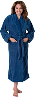 THIRSTY Towels Turkish Cotton Robe, Light Presidential Robe for Men and Women