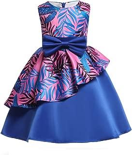 Flower Girls Dresses Kids Princess Floral Print Party Dress